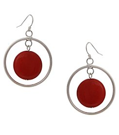 Erica Lyons Silvertone Drop Earrings