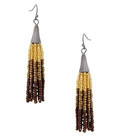 Erica Lyons Earthtone Tassel Earrings