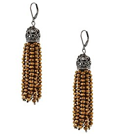 Erica Lyons Brown Tassel Earrings