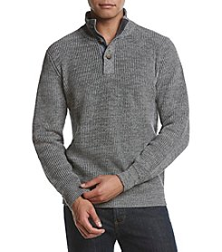 Weatherproof Vintage Men's Buttonup Mockneck Sweater