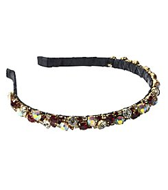 Twig & Arrow Accessories Fabric Headband With Assorted Stones