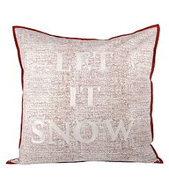 The Pomeroy Collection Let It Snow Decorative Pillow