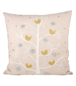 The Pomeroy Collection Holiday Partridge Decorative Pillow