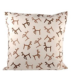 The Pomeroy Collection Dancing Reindeer Decorative Pillow