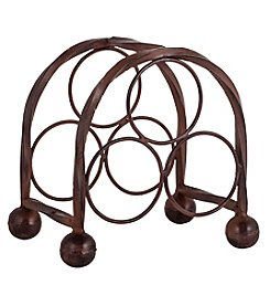The Pomeroy Collection Rodeo 3-Bottle Wine Rack