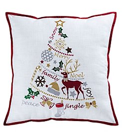The Pomeroy Collection Holiday Tiding Tree Decorative Pillow