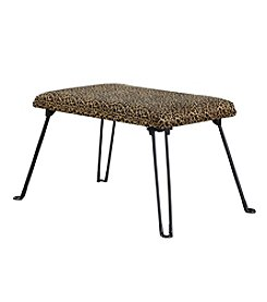 Ore International™ Leopard Backless Accent Seat with Foldable Legs