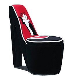 Ore International™ Glamor Girl High Heel Storage Chair