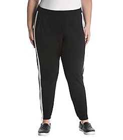 Rafaella Plus Size Pull On Zip Cuff Pants