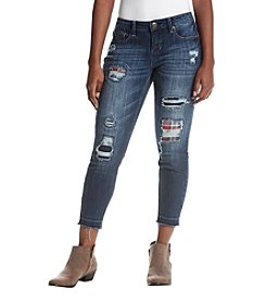 Ruff Hewn Petites' Distressed Detail Ankle Jeans