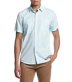 IZOD Men's Short Sleeve Saltwater Dockside Button Down Shirt