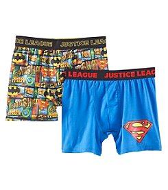 Marvel Heroes Boys' 6-10 Justice League 2 Pack Athletic Boxer Briefs