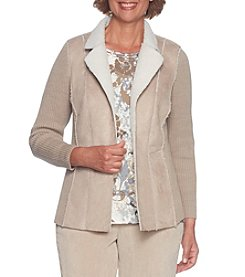 Alfred Dunner Petites' Sherpa Jacket
