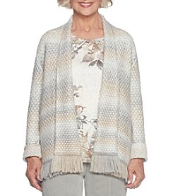 Alfred Dunner Petites' Spacedye Cardigan Sweater