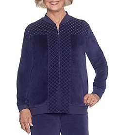 Alfred Dunner Petites' Spliced Diamond Quilted Jacket