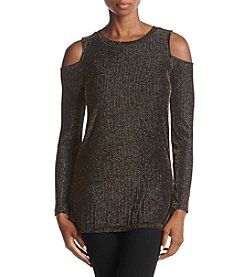 MICHAEL Michael Kors Petites' Sparkle Detail Cold Shoulder Top
