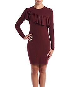 MICHAEL Michael Kors Petites' Asymmetrical Ruffle Sleeve Dress