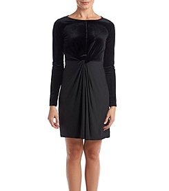 MICHAEL Michael Kors Petites' Velvet Twist Sheath Dress