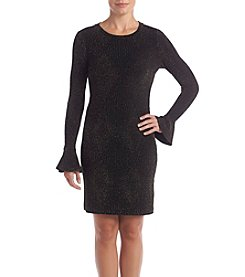 MICHAEL Michael Kors Petites' Bodycon Flounce Sleeve Dress