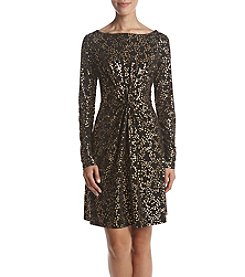 MICHAEL Michael Kors Petites' Star Foil Print Twist Bodice Dress