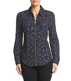 MICHAEL Michael Kors Petites' Shooting Star Zip Top