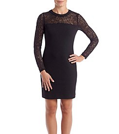 MICHAEL Michael Kors Petites' Lace Illusion Dress