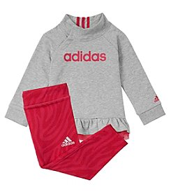 adidas Baby Girls' Pullover Sweatshirt And Leggings Set