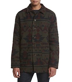 Weatherproof Vintage Men's Geometric-Print Fleece-Lined Jacket