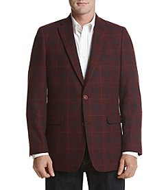 Tommy Hilfiger Men's Big & Tall Brick Plaid Sport Coat