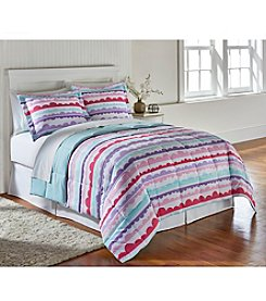 Living Quarters Cloud Stripe Reversible Microfiber Down Alternative Comforter