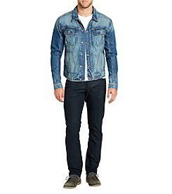 William Rast Men's Erwin Signature Denim Trucker Jacket