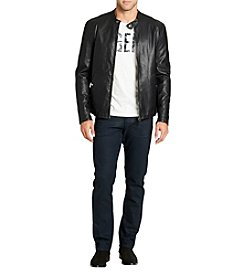William Rast Men's Salomon Leather Moto Jacket