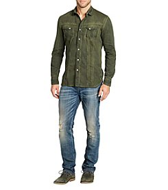William Rast Men's Oak Long Sleeve Signature Denim Shirt
