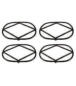 The Pomeroy Collection Set of 4 Lex Oval Trivets