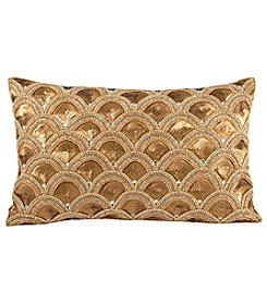 The Pomeroy Gilded Scallops Decorative Pillow
