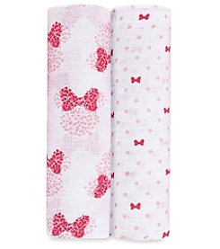 aden by aden + anais Baby Girls' 2-Pack Minnie Mouse Swaddles