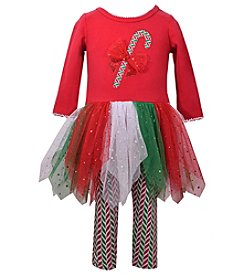 Bonnie Jean Baby Girls' 12M-24M Candy Cane Tulle Dress & Leggings Set