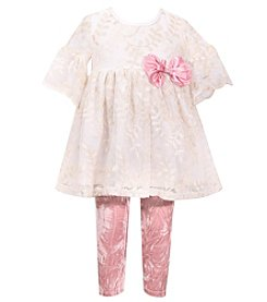 Bonnie Jean Baby Girls' 12M-24M Short Sleeve Top and Leggings Set
