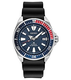Seiko Men's Prospex Automatic Diver Silicone Strap Watch
