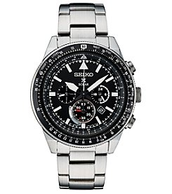 Seiko Men's Prospex Solar Stainless Steel Chronograph Watch