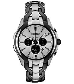 Seiko Men's Two Tone Solar Chronograph Watch