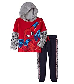 Spider-Man Boys' 2T-6 Spiderman Knit Hooded Pullover Set