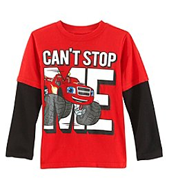 Cars Boys' 2T-7 Long Sleeve Cars Can't Stop Me Tee
