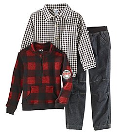 Nannette Boys' 4-7 Long Sleeve Knit Pullover Jacket, Shirt And Jeans