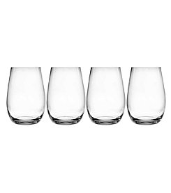 Oneida Grace Set of 4 Stemless Wine Glasses