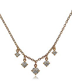 Designs by FMC Cubic Zirconia 5 Stone Drop Necklace