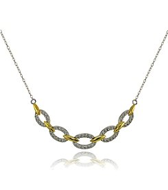 Designs by FMC Two Tone Frontal Chain Link Necklace