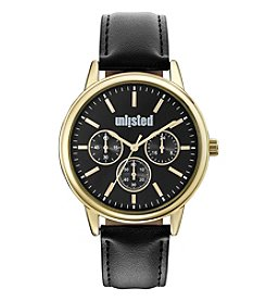 Unlisted by Kenneth Cole Men's Black Dial Watch with Black Strap