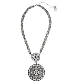 Erica Lyons Hematite Disc Pendant Necklace