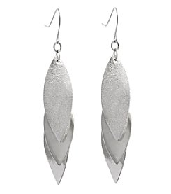 Erica Lyons Glitter Metal Drop Cluster Earrings